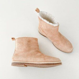 Jenni Kayne Suede Moc Ankle Boot Natural Size 41